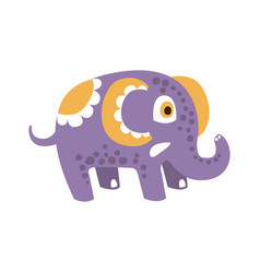 Adorable cartoon elephant character posing vector