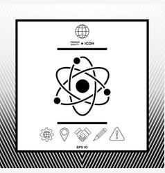 Atom symbol - science icon vector