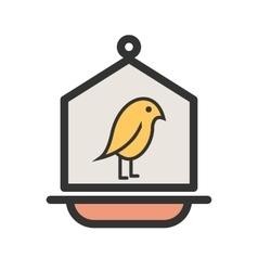 Bird in Bird House vector image