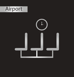 Black and white style icon airport waiting room vector