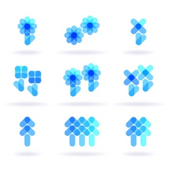 botany symbols vector image vector image