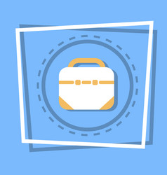 Briefcase icon business portfolio concept web vector