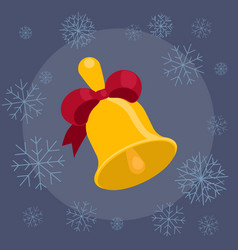 christmas bell flat vector image vector image