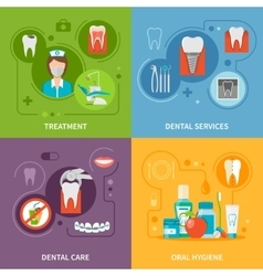 Dental care concept icons set vector