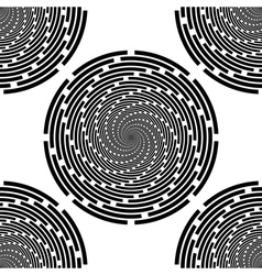 Design seamless monochrome spiral background vector