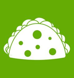 Empanada cheburek or calzone icon green vector