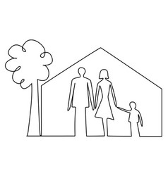 Family home security vector