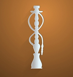 Flat icon for hookah vector