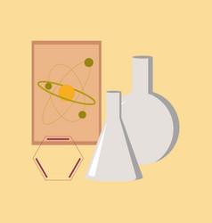 flat icon on stylish background chemistry lesson vector image