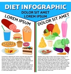 Food flat infographic vector