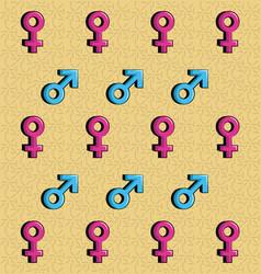 gender symbols background vector image