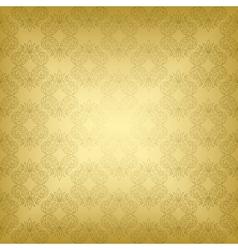 gold seamless vintage pattern vector image