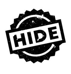 Hide rubber stamp vector