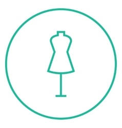 Mannequin line icon vector image vector image
