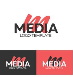 media logo letter m logo logo template vector image vector image