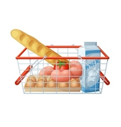 Minimal consumer basket isolated on white vector