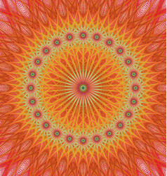 Orange abstract star mandala fractal background vector