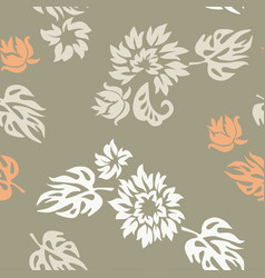 Plants seamless pattern wallpaper vector