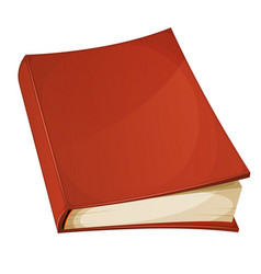 red book isolated vector image vector image
