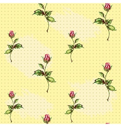 Rose pattern in yellow vector