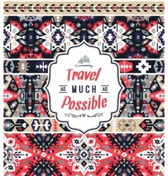 Seamless colorful pattern in tribal style vector