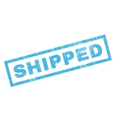 Shipped rubber stamp vector