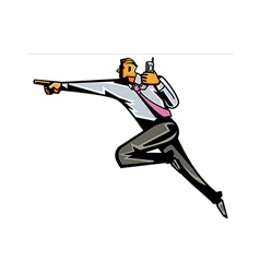Side view of man walking vector image