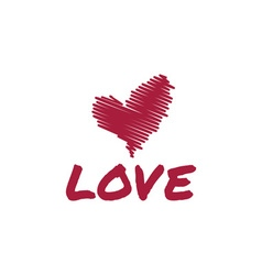 sketch heart love vector image