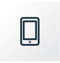 smartphone outline symbol premium quality vector image