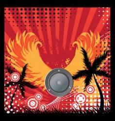 urban grunge speaker design vector image vector image