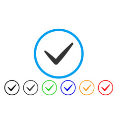 valid rounded icon vector image vector image