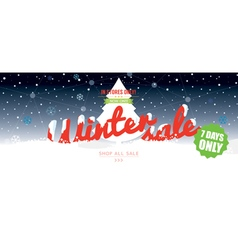 Winter sale 50 percent 6234x2500 px wide banner vector