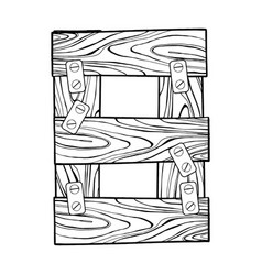 wooden number 8 engraving vector image vector image