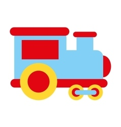 Train transport toy isolated icon vector