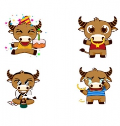 buffalo cartoons vector image