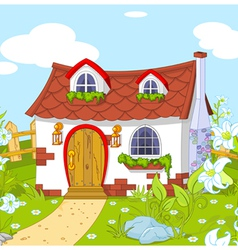 Cute little house vector