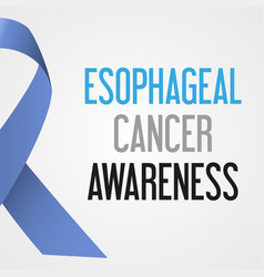 World esophageal cancer day awareness poster eps10 vector