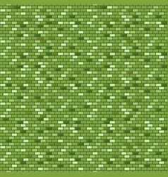 Green brick wall seamless pattern vector