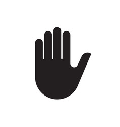 human hand silhouette icon vector image
