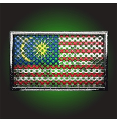 Flag on old metal vector