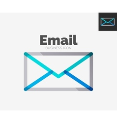 Minimal line design logo email icon vector