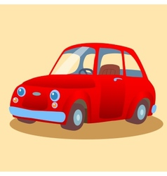 Small family-run red car vector