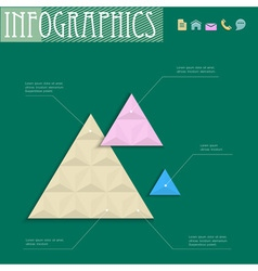 3D geometric design template for infographics vector image