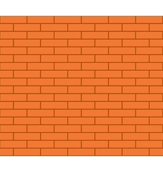 Abstract seamless orange flat brick wall vector