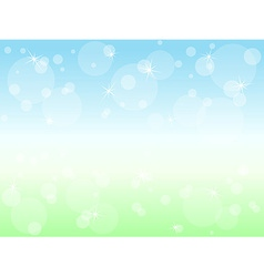 Soft grass and sky background vector