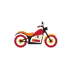 Red retro vintage motorcycle icon isolated on vector