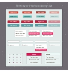 Modern user interface screen template kit for vector