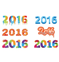 2016 colorful design vector
