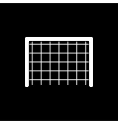 The football gate icon soccer symbol flat vector