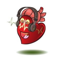 Heart in earphones vector